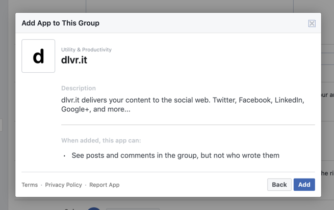 Connecting Facebook Groups to dlvr it – dlvr it support